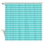 Teal Wavy Pattern Shower Curtain