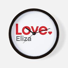 Love Eliza Wall Clock