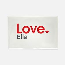 Love Ella Rectangle Magnet