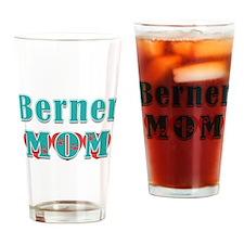 Berner Mom Hearts Drinking Glass