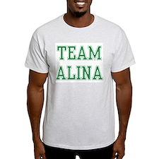 TEAM ALINA  Ash Grey T-Shirt