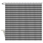 Black and White Wavy Pattern Shower Curtain