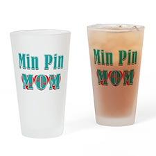 Min Pin Mom Hearts Drinking Glass