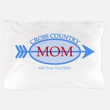 Cross Country Mom Blue Text Pillow Case