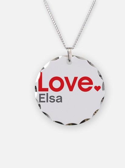 Love Elsa Necklace
