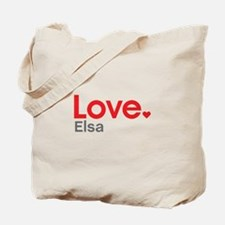 Love Elsa Tote Bag