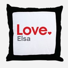 Love Elsa Throw Pillow
