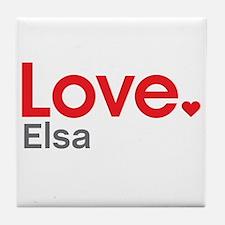 Love Elsa Tile Coaster