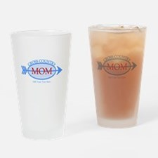 Cross Country Mom Blue Text Drinking Glass