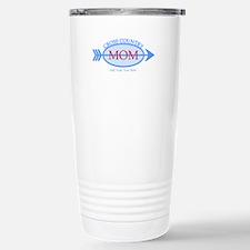 Cross Country Mom Blue Text Travel Mug