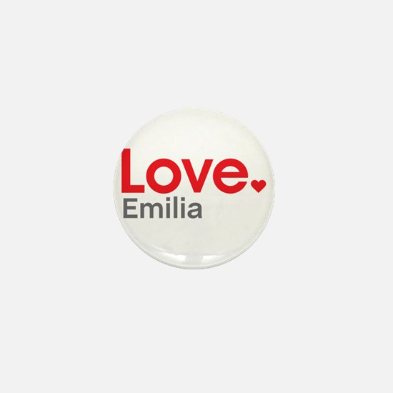 Love Emilia Mini Button