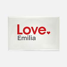 Love Emilia Rectangle Magnet
