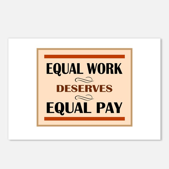 Equal Work Deserves Equal Pay Postcards (Package o