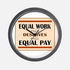 Equal Work Deserves Equal Pay Wall Clock