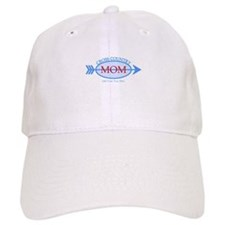 Cross Country Mom Blue Text Baseball Cap