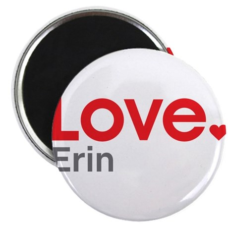 """Love Erin 2.25"""" Magnet (10 pack)"""
