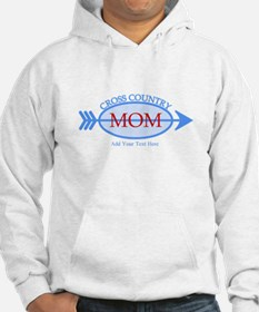 Cross Country Mom Blue Text Hoodie