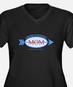 Cross Country Mom Blue Text Plus Size T-Shirt