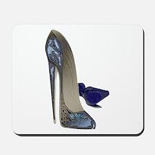 Blue Stiletto Shoes Art Mousepad