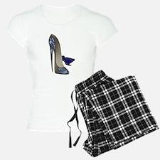 Blue Stiletto Shoes Art Pajamas