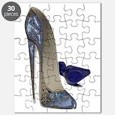 Blue Stiletto Shoes Art Puzzle