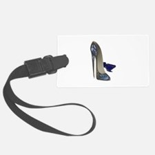 Blue Stiletto Shoes Art Luggage Tag
