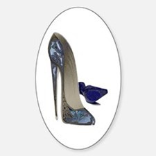 Blue Stiletto Shoes Art Decal