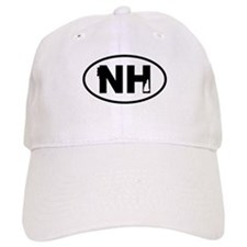 New Hampshire Old Man and Map Baseball Baseball Cap