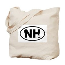 New Hampshire Old Man and Map Tote Bag