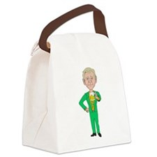 Irish George Bush With Beer Canvas Lunch Bag