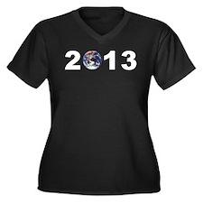 Earth Day 2013 Women's Plus Size V-Neck Dark T-Shi