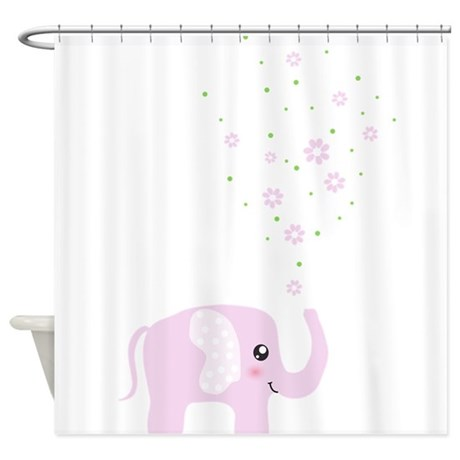 Cute Elephant Shower Curtain By InspirationzStore