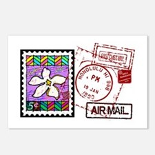 Plumeria Air Mail Postcards (Package of 8)