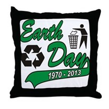 Earth Day 2013 Throw Pillow