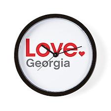 Love Georgia Wall Clock