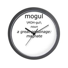 Mogul Definition of Me Wall Clock
