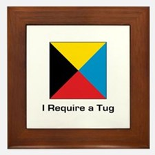 require tug.png Framed Tile