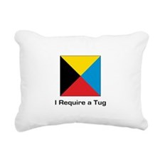 require tug.png Rectangular Canvas Pillow