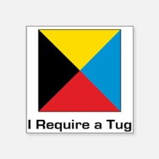 """require tug.png Square Sticker 3"""" x 3"""""""