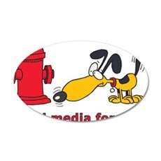 social media for dogs.png Wall Sticker