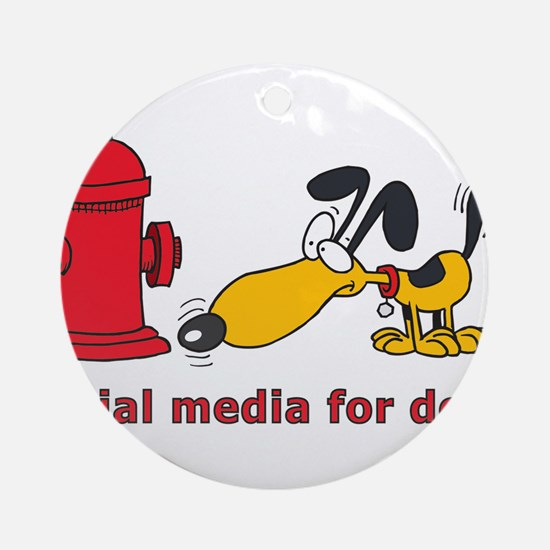 social media for dogs.png Ornament (Round)