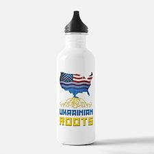 American Ukrainian Roots Water Bottle