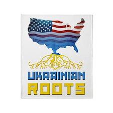 American Ukrainian Roots Throw Blanket