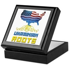 American Ukrainian Roots Keepsake Box