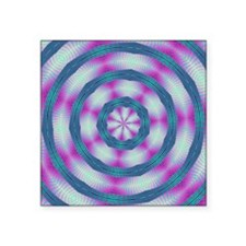 "FRACTALSCOPE 12 Square Sticker 3"" x 3"""