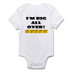 Ruler Big All Over Infant Bodysuit