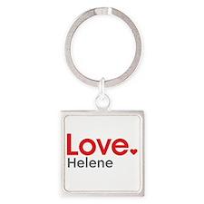 Love Helene Square Keychain