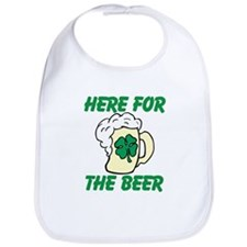 Here For The Beer Bib