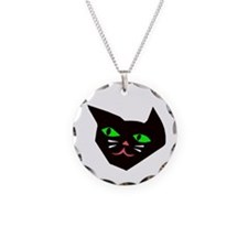 Black Cat Head Necklace