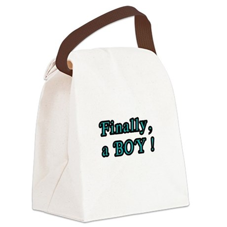 Finally, a Boy Canvas Lunch Bag